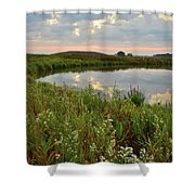 Sunrise On The Nippersink Shower Curtain