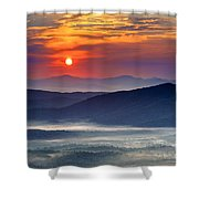 Sunrise On The Parkway. Shower Curtain