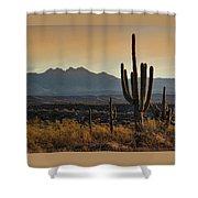 Sunrise On The Peaks Shower Curtain