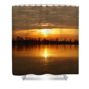 Sunrise On The Pecatonica River Shower Curtain