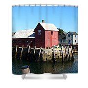 Sunrise On The Pier Shower Curtain