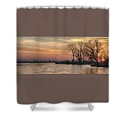 Sunrise On The Platte Shower Curtain