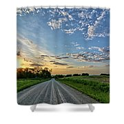 Sunrise On The Road Shower Curtain