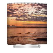 Sunrise On The Shore  Shower Curtain