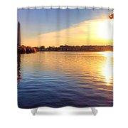 Sunrise On The Tidal Basin Shower Curtain