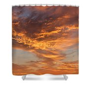 Sunrise Orange Sky, Willamette National Forest, Oregon Shower Curtain