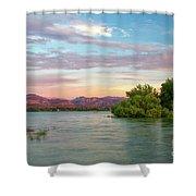 Sunrise Over A Colorado Lake  Shower Curtain