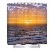 Sunrise Over Atlantic Ocean Shower Curtain