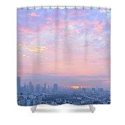Sunrise Over Bangkok Shower Curtain