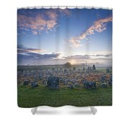 Sunrise Over Beaghmore Stone Circles Shower Curtain