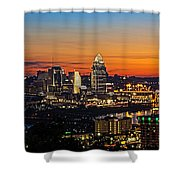 Sunrise Over Cincinnati Shower Curtain