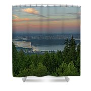Sunrise Over City Of Vancouver Bc Canada Shower Curtain