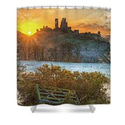 Sunrise Over Corfe Shower Curtain