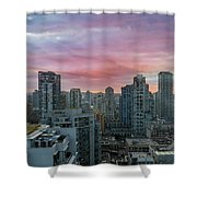 Sunrise Over Downtown Vancouver Bc Shower Curtain