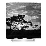 Sunrise Over Fort Salonga B W Shower Curtain