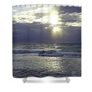 Sunrise Over Gulf Of Mexico Shower Curtain
