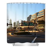 Sunrise Over Haymarket Station In Boston Shower Curtain