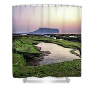 Sunrise Over Jeju Island Shower Curtain