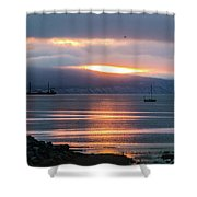 Sunrise Over Kachemak Bay Shower Curtain