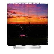 Sunrise Over Kennedy's Grave Arlington Cemetery Shower Curtain