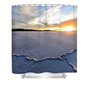 Sunrise Over Lake Gairdner, Shower Curtain