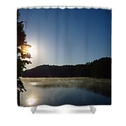 Sunrise Over Lake Lainer Shower Curtain