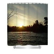 Sunrise Over Mississippi River Shower Curtain