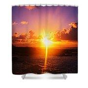 Sunrise Over Ocean, Sandy Beach Park Shower Curtain