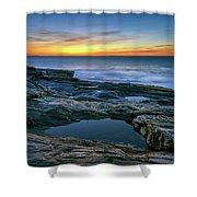 Sunrise Over Pemaquid Point Shower Curtain