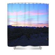 Sunrise Over Rincon Mountains Shower Curtain