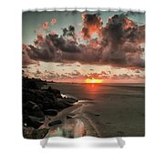 Sunrise Over The Beach Shower Curtain