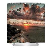 Sunrise Over The Beach Shower Curtain