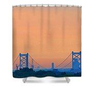 Sunrise Over The Ben Franklin Bridge Shower Curtain