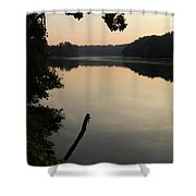 Sunrise Over The Huron River Shower Curtain