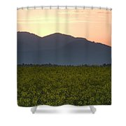 Sunrise Over The Kamnik Alps And Rapeseed Shower Curtain