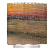 Sunrise Over The Marsh Part II Shower Curtain