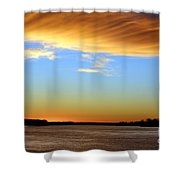 Sunrise Over The Mississippi Shower Curtain