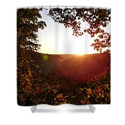 Sunrise Over The Mountain  Shower Curtain
