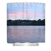 Sunrise Over The River Shower Curtain