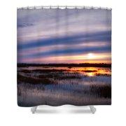 Sunrise Over The Salt Marsh Shower Curtain
