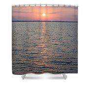 Sunrise Over The Sea Horizon Shower Curtain