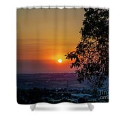 Sunrise Over The Valley Shower Curtain