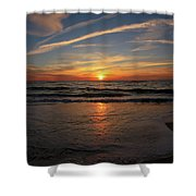 Sunrise Over The Waves Shower Curtain