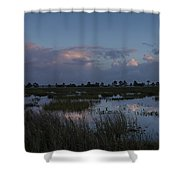 Sunrise Over The Wetlands Shower Curtain