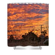 Sunrise Over The Wheat Fields Shower Curtain