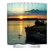 Sunrise Over Wilson Lake Shower Curtain