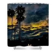 Sunrise Palms Shower Curtain