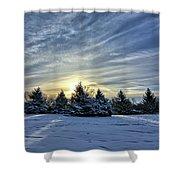 Sunrise Pines Shower Curtain