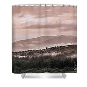 Sunrise Pink Over Tlacolula Valley Shower Curtain