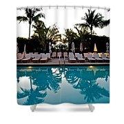Sunrise Pool Shower Curtain